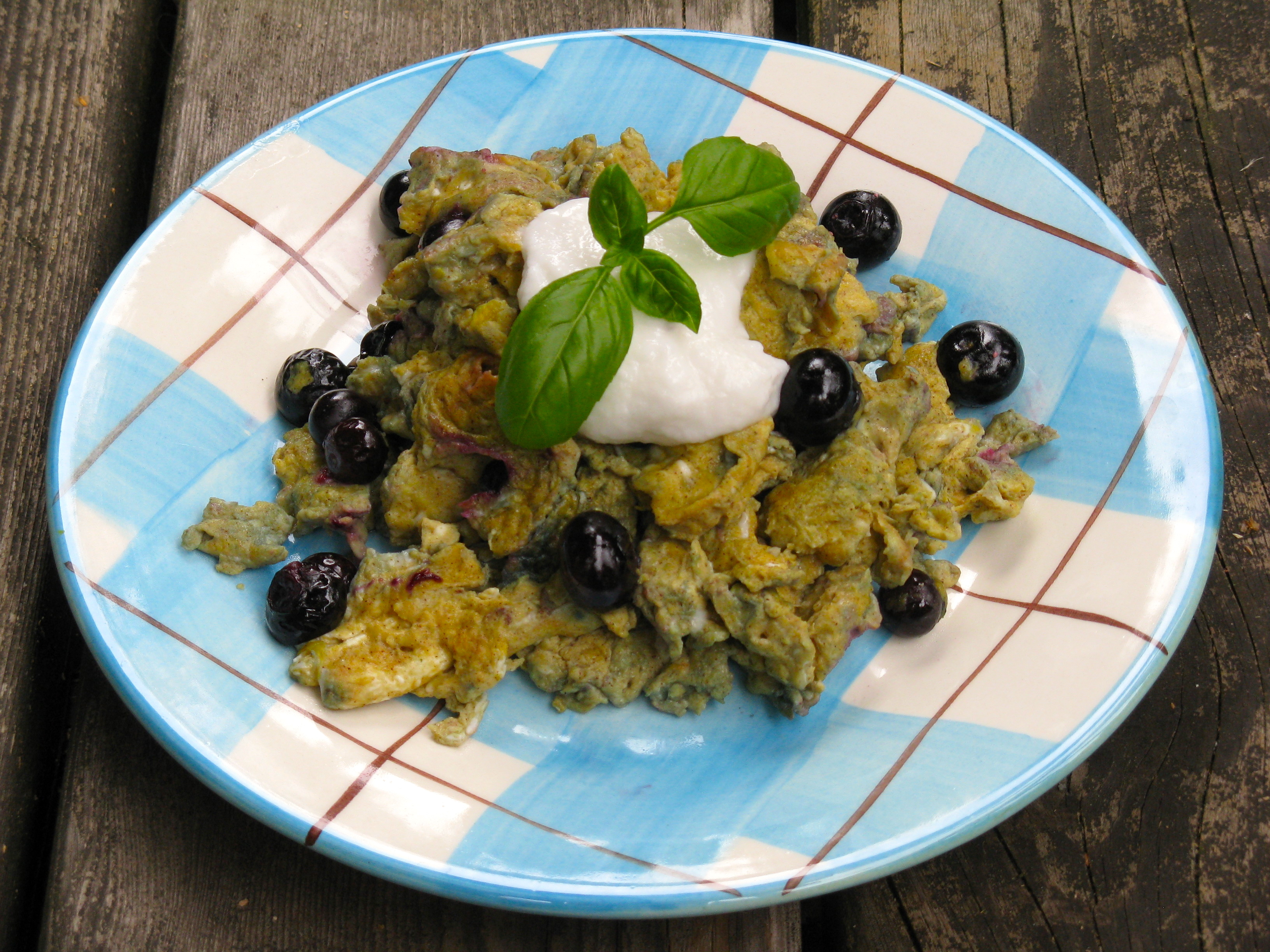 Blueberries N' Cream Scramble